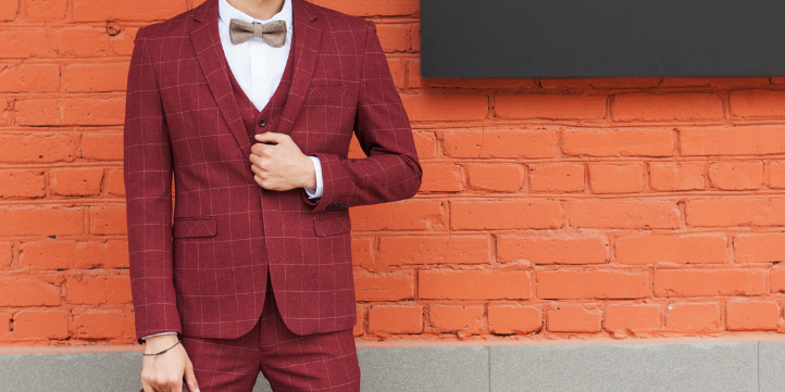 Burgundy Suit  – Live More Zone