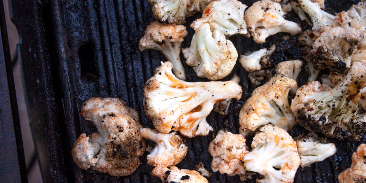 Grilled Cauliflower with Spring Onions – Live More Zone