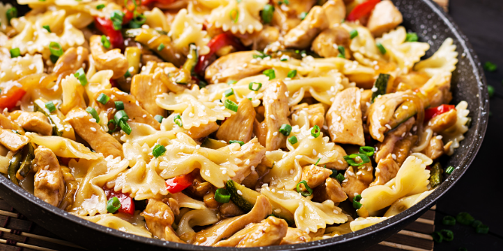 Quick & Healthy Bell Pepper Chicken Pasta – Live More Zone