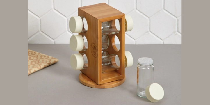 Bamboo Spice Rack  – Live More Zone
