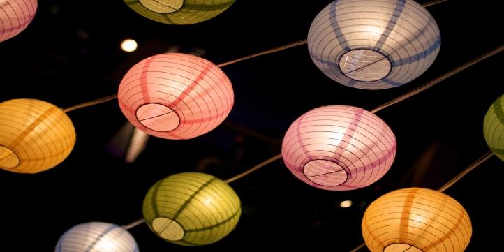 Colourful lanterns - Live More Zone