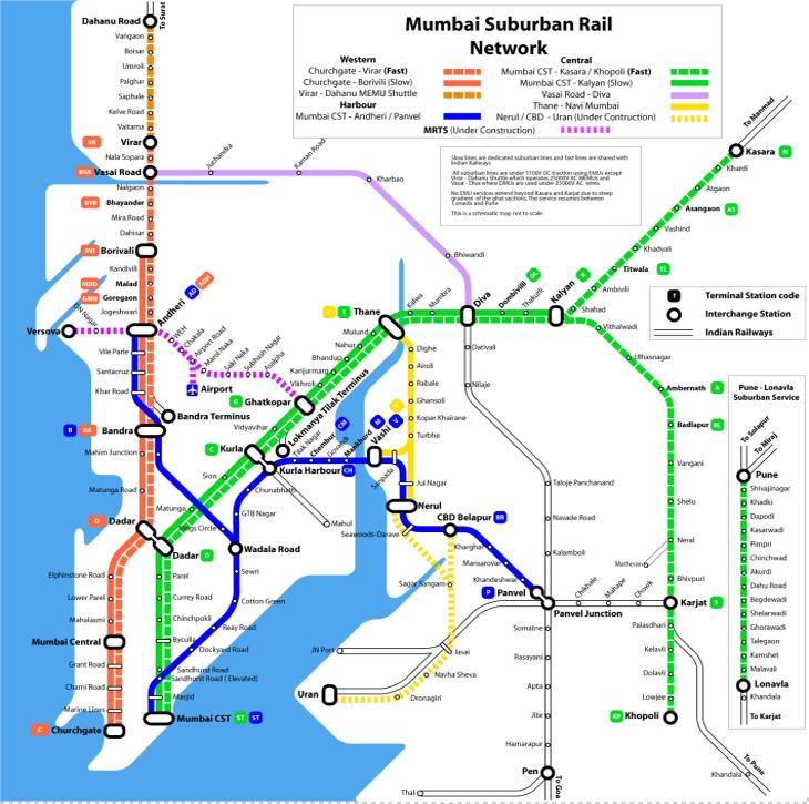 Mumbai Train Map - Live More Zone