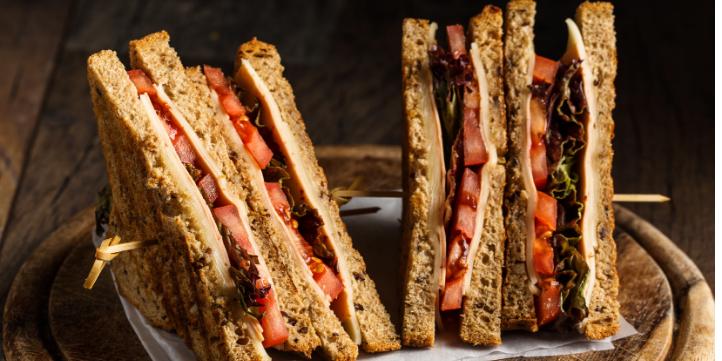 Veggie-loaded sandwich  – Live More Zone